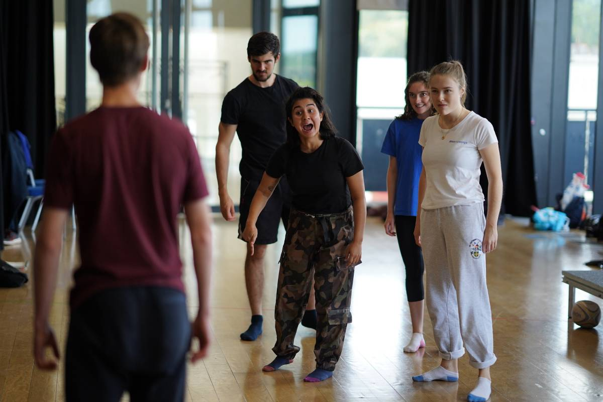 Rehearsals for the Durham Gala Theatre production of Lord of the Flies