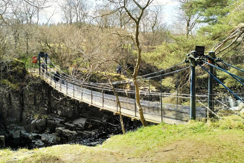 The Teesdale Wynch Bridge is closed for eight weeks to allow urgent repairs