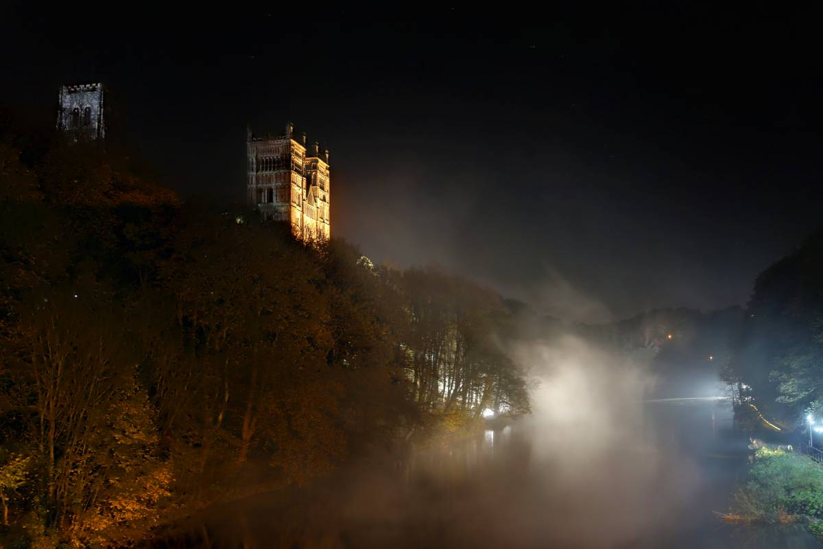 Durham Lumiere highlights: the atmospheric Fogscape #03238 crept across the River Wear