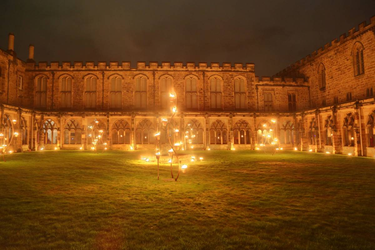 Lumiere Durham highlights: the fire in Durham Cathedral cloisters was spectacular