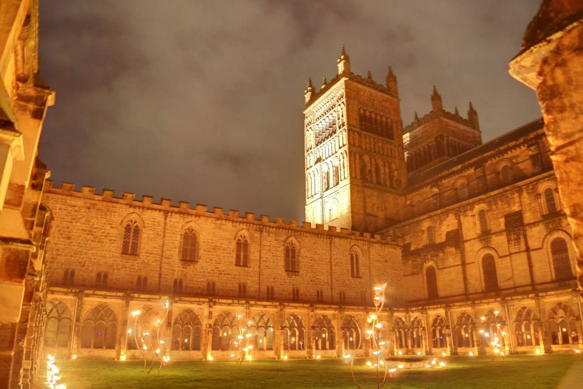 You don't need a Lumiere ticket to see Durham Cathedral's fire show after 7.30pm