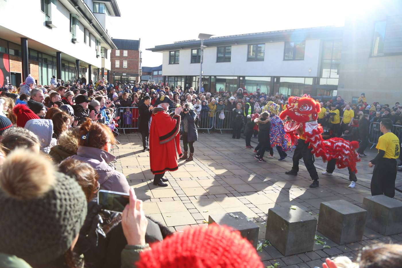 The ever-popular Lion Dance in Durham's Chinese New Year events