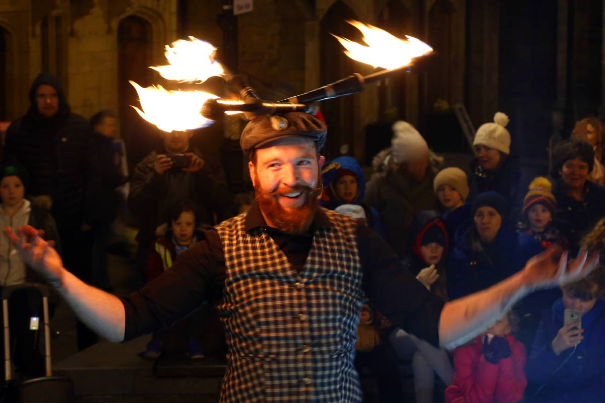 Durham Fire and Ice 2020 draws the crowds despite the weather