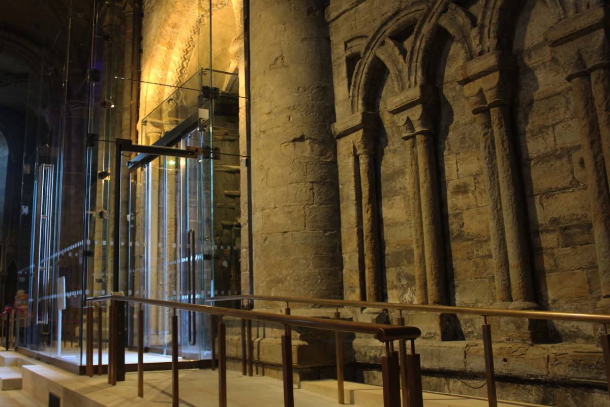 Durham Cathedral's new glass porches for the north and south entrances are finished