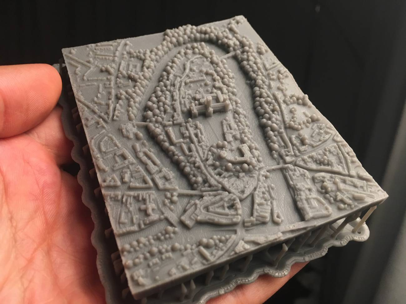 This amazing 3D printed Durham model fits in the palm of your hand