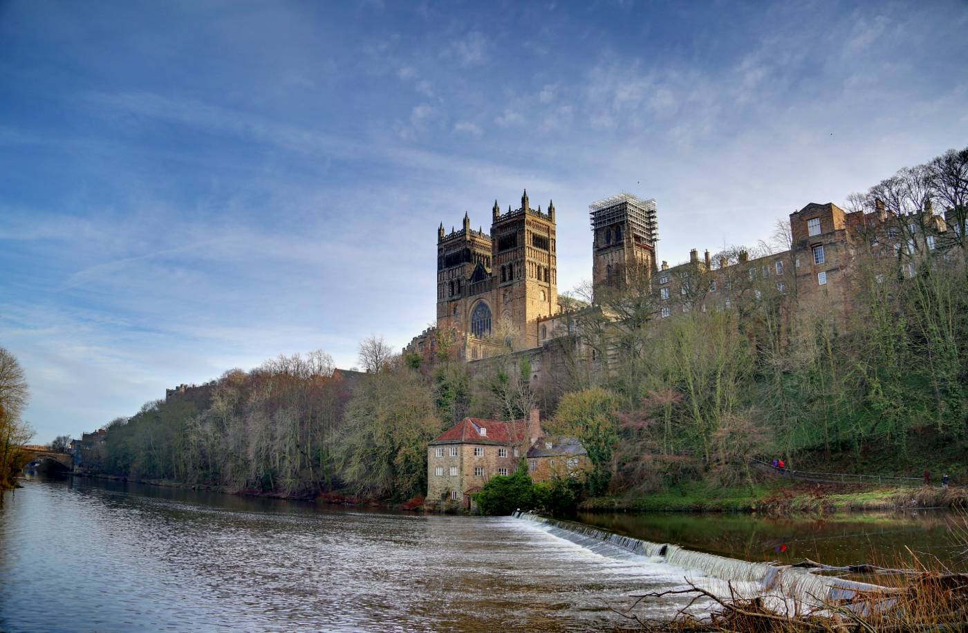 What was on the site of Durham Cathedral before it was built?