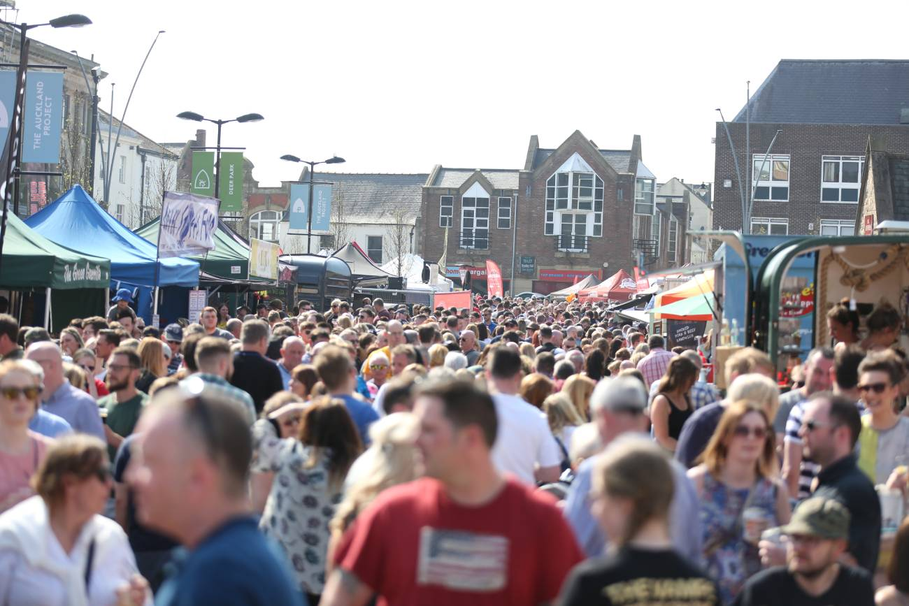 Where exactly is Bishop Auckland Food Festival 2019 taking place?