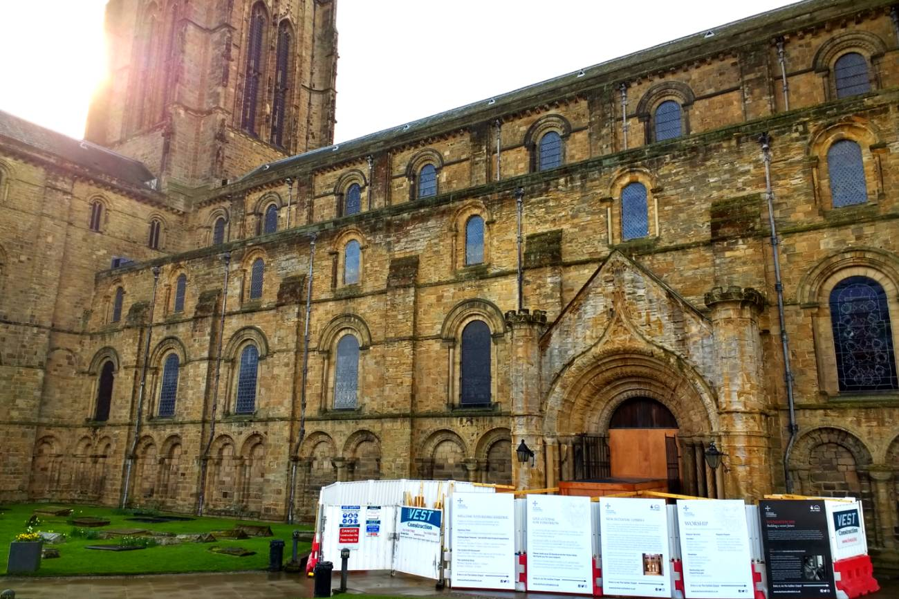 What is the Durham Cathedral building work and when will it finish?