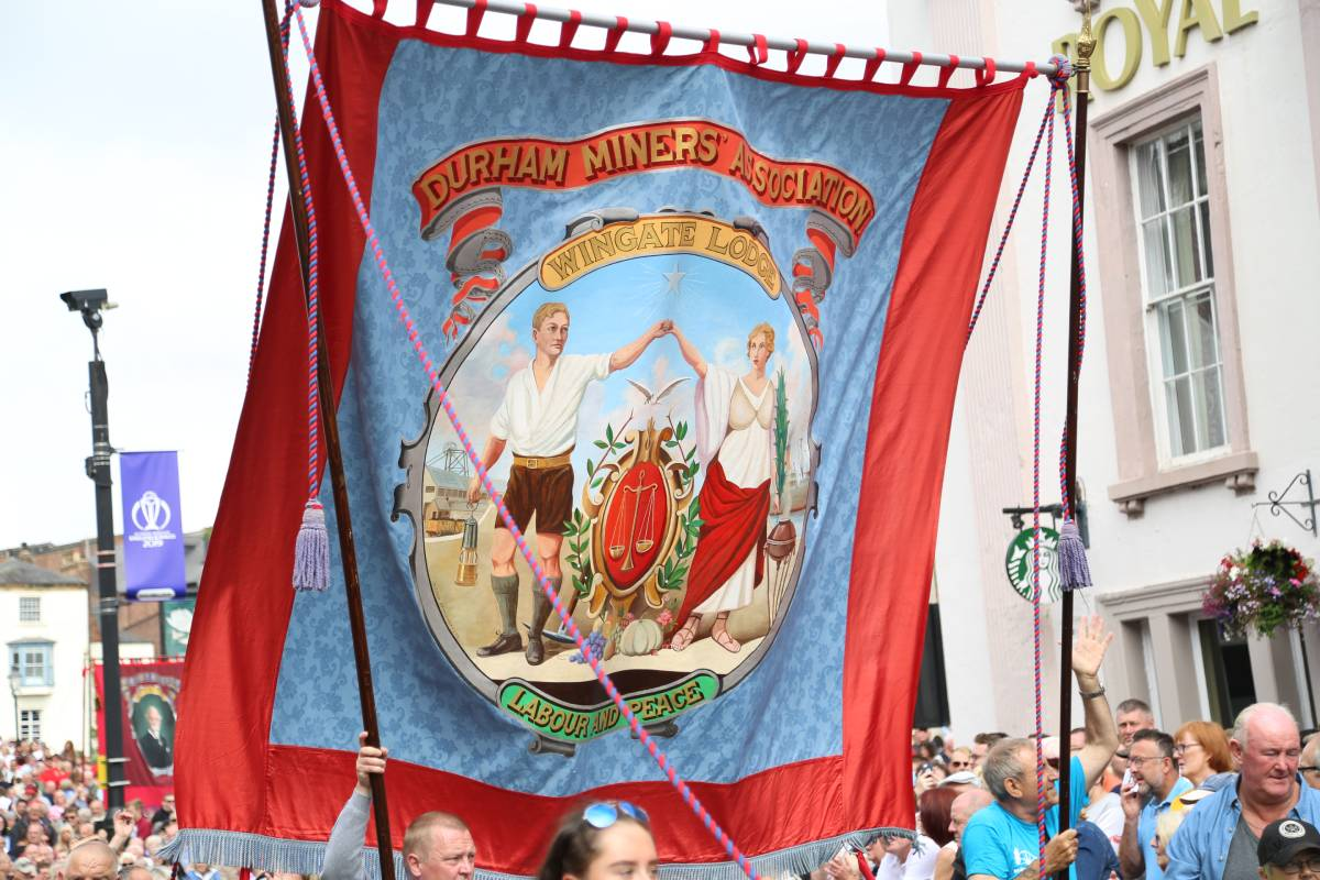 Fifty pictures of the Durham Miners Gala banners from 2019