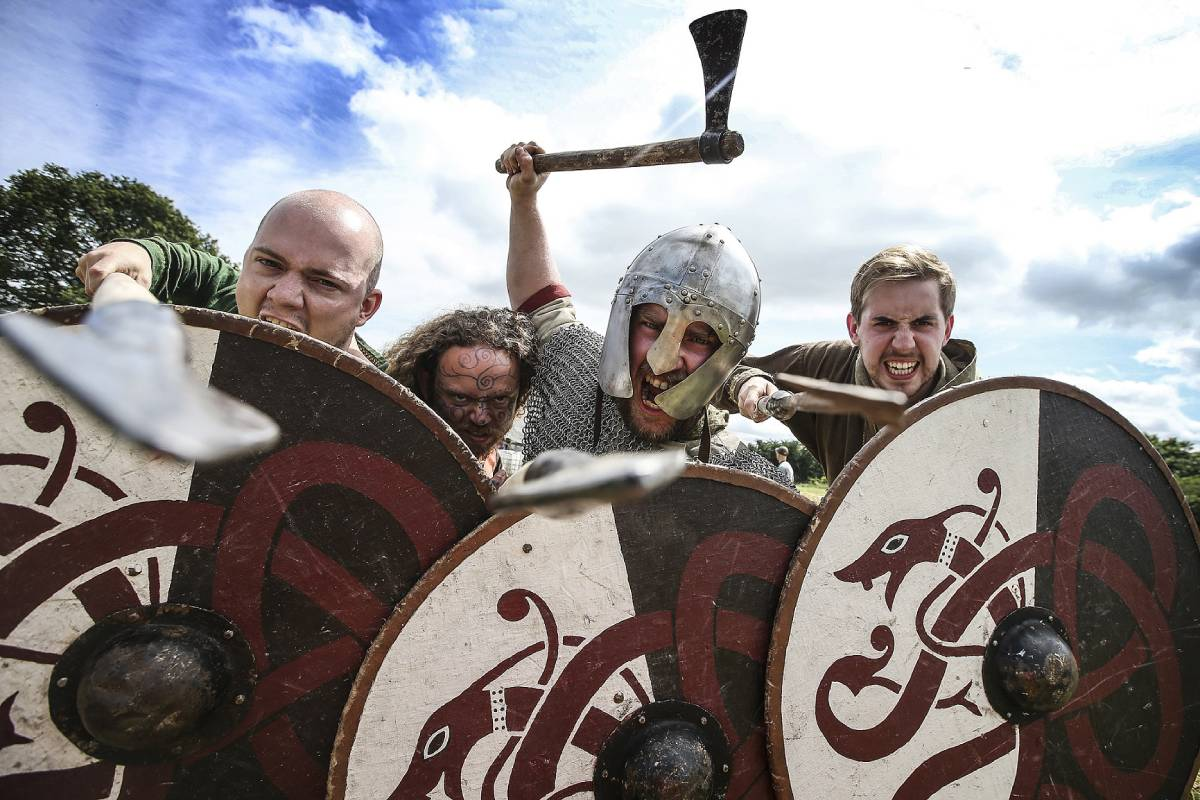 Romans take on barbarians at Binchester's bank holiday weekend event