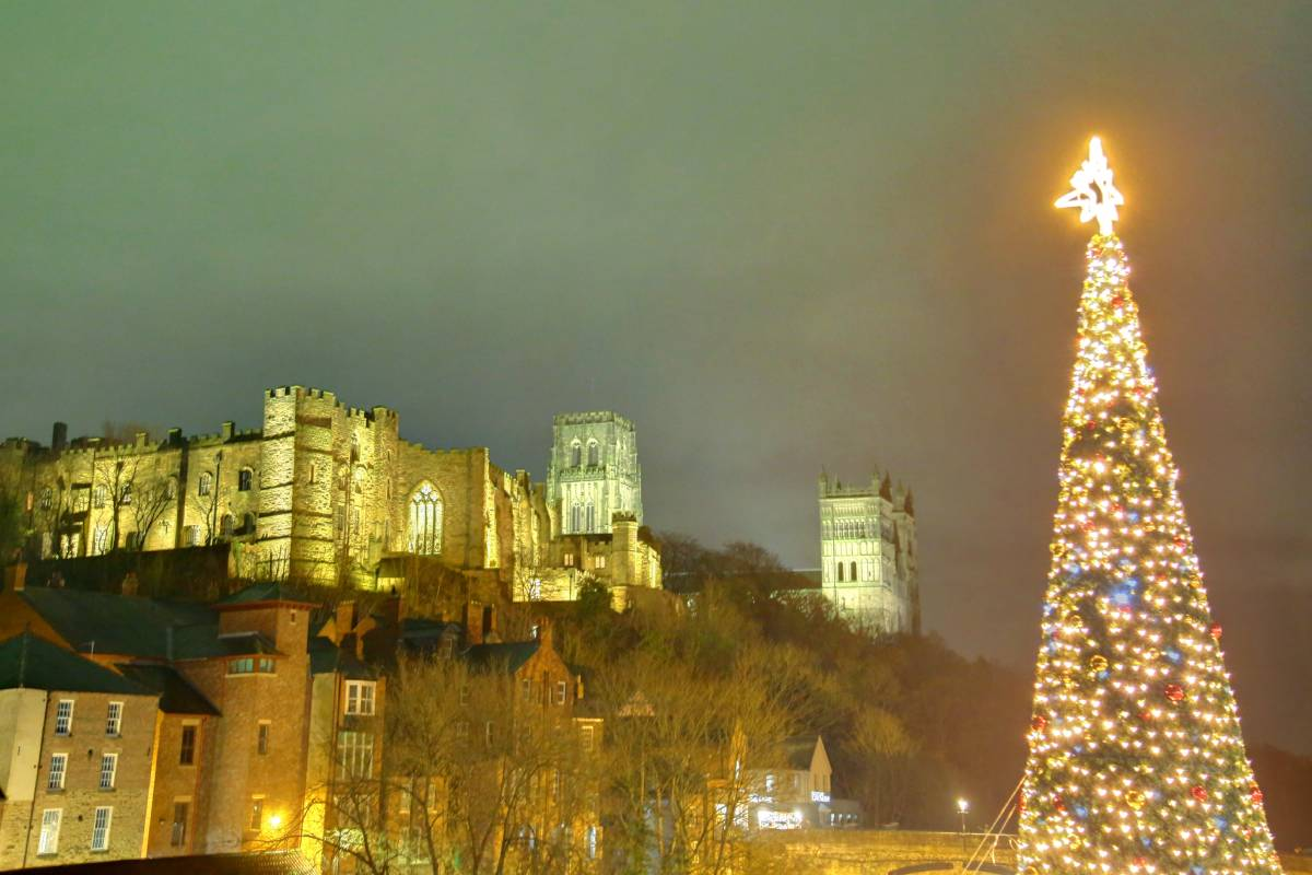 See Durham's Christmas lights and tree in our picture gallery