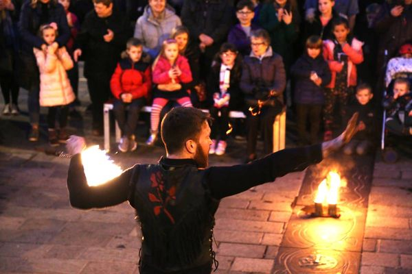 Watch highlights from Durham Fire and Ice 2019 from ice sculptures to fire juggling