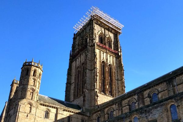 Durham Cathedral scaffolding removal almost finished after four months of work