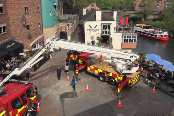 Durham Uniformed Services Fun Day offers rides on a fire engine aerial platform