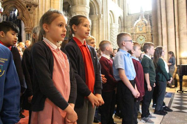 Durham Cathedral music outreach celebration sees choristers joins voices with 300 children