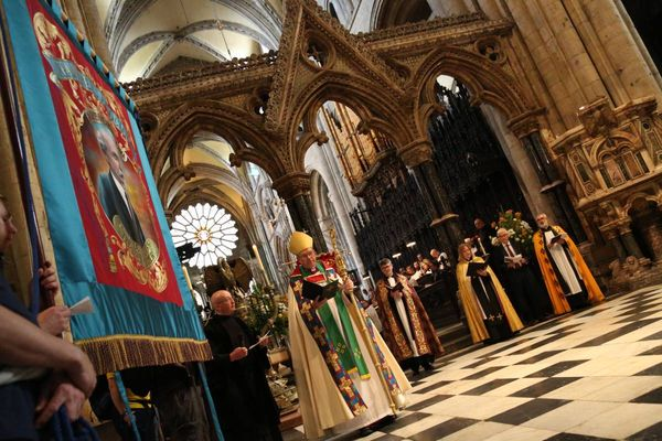 Durham Cathedral's atmospheric Durham Miners Gala service - in pictures